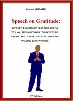 Cover for 'Speech on Gratitude'