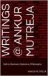 Writings @ Ankur Mutreja by ankur Mutreja