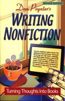 Cover for 'Writing Nonfiction: Turning Thoughts into Books'