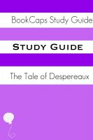 Cover for 'Study Guide: Tale of Despereaux (A BookCaps Study Guide)'