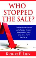 Cover for 'Who Stopped the Sale?'
