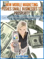 Cover for 'How Mobile Marketing Pushes Small Businesses to Prosperity'
