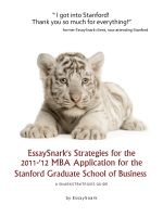 Cover for 'EssaySnark's Strategies for the 2011-'12 MBA Application for the Stanford Graduate School of Business'