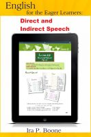 Cover for 'English for the Eager Learners: Direct and Indirect Speech'