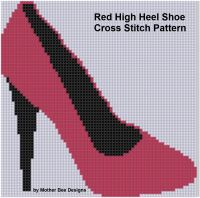 Cover for 'Red High Heel Shoe Cross Stitch Pattern'