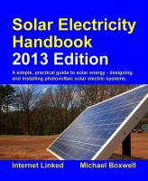 Cover for 'The 2013 Solar Electricity Handbook'