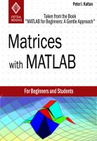 "Cover for 'Matrices with MATLAB (Taken from ""MATLAB for Beginners: A Gentle Approach"")'"