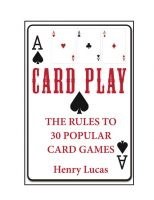Cover for 'Card Play: The Rules to 30 Popular Card Games'