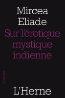 Cover for 'Sur l'érotique mystique indienne'