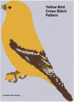 Cover for 'Yellow Bird Cross Stitch Pattern'