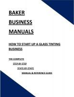 Cover for 'How To Start Up A Glass Tinting Business'
