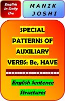 Cover for 'Special Patterns of Auxiliary Verbs: Be and Have'