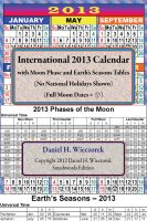 Cover for '2013 International Calendar With Moon Phase Table'