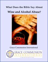 Cover for 'What Does the Bible Say About Wine and Alcohol Abuse?'