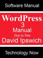 Cover for 'WordPress 3 Manual Step-by-Step'