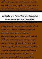 Cover for 'A Carta de Pero Vaz de Caminha'