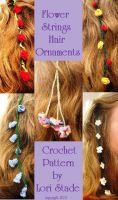 Cover for 'Flower Strings Hair Ornaments Crochet Pattern'