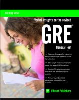 Cover for 'Verbal Insights on the revised GRE General Test'