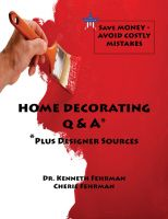 Cover for 'Home Decorating Q&A Plus Designer Sources'