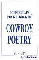 Cover for 'John Kulm's Pocketbook Of Cowboy Poetry'