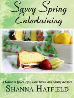 Cover for 'Savvy Spring Entertaining'