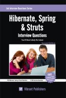Cover for 'Hibernate, Spring & Struts Interview Questions You'll Most Likely Be Asked'
