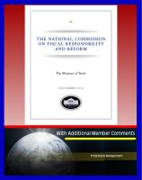 Cover for 'The Moment of Truth: The Final Report of the National Commission on Fiscal Responsibility and Reform, with Additional Member Comments - Federal Deficit, Social Security, Medicare, Entitlements'