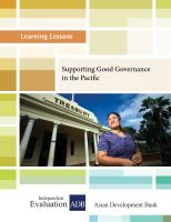 Cover for 'Supporting Good Governance in the Pacific'