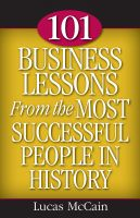 Cover for '101 Business Lessons From the Most Successful People in History'
