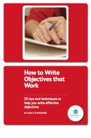 Cover for 'How To Write Objectives That Work'