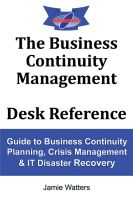 Cover for 'The Business Continuity Management Desk Reference'