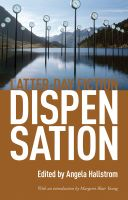 Cover for 'Dispensation: Latter-Day Fiction'