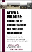 Cover for 'After a Wildfire: Checklist of Considerations for Post-Fire Management'