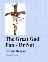 Cover for 'The Great God Pan - Or Not'
