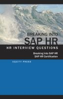 Cover for 'Breaking In to SAP HR: Interview Questions, Answers and Explanations'