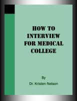 Cover for 'How to Interview for Medical College'