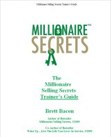 Cover for 'Millionaire Selling Secrets Trainer's Guide'