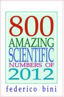 Cover for '800 Amazing Scientific Numbers of 2012'
