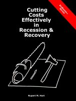 Cover for 'Cutting Costs Effectively in Recession & Recovery'