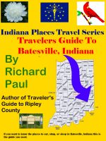 Cover for 'Indiana Places Guide To Batesville, Indiana'