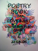 Cover for 'Poetry Books about Love & Art - Disc of Red Flight - Volume 4'