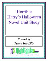 Cover for 'Horrible Harry's Halloween Novel Unit Study'