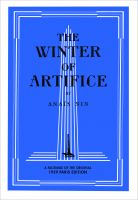 Cover for 'The Winter of Artifice, 1939 edition'