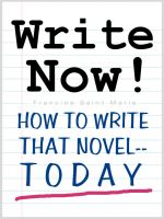 Cover for 'WRITE NOW! (How To Write That Novel--Today)'