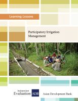 Cover for 'Participatory Irrigation Management'