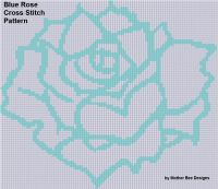 Cover for 'Blue Rose Cross Stitch Pattern'