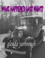 What Happened Last Night? cover