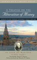 Cover for 'A Treatise on the Alteration of Money'