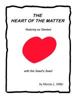 Cover for 'The Heart of the Matter-Restoring our Standard with the Seed's Seed'