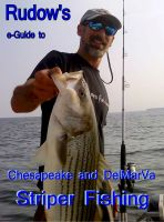 Cover for 'Rudow's e-Guide to Chesapeake and Delmarva Striper Fishing'